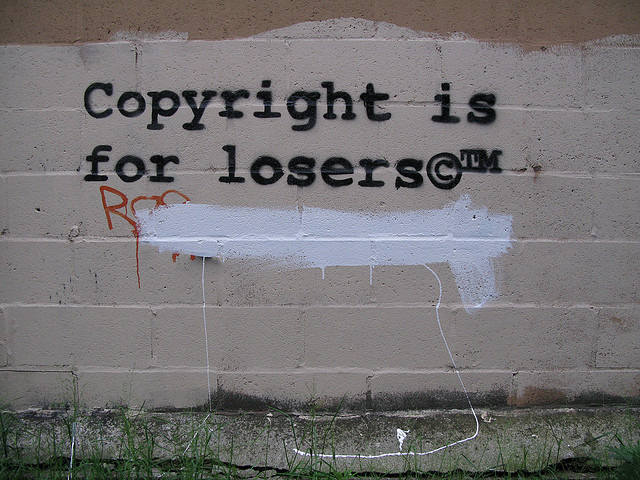 Copyright is for losers ... not! Photo: 917press/flickr; some rights reserved.